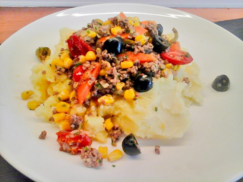 Kartoffelpüree mit Gemüse