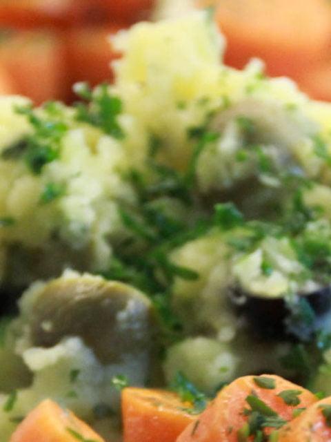 Kartoffelstampf mit Oliven