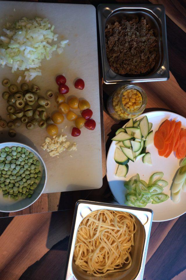 Gemüsepfanne - mis en place