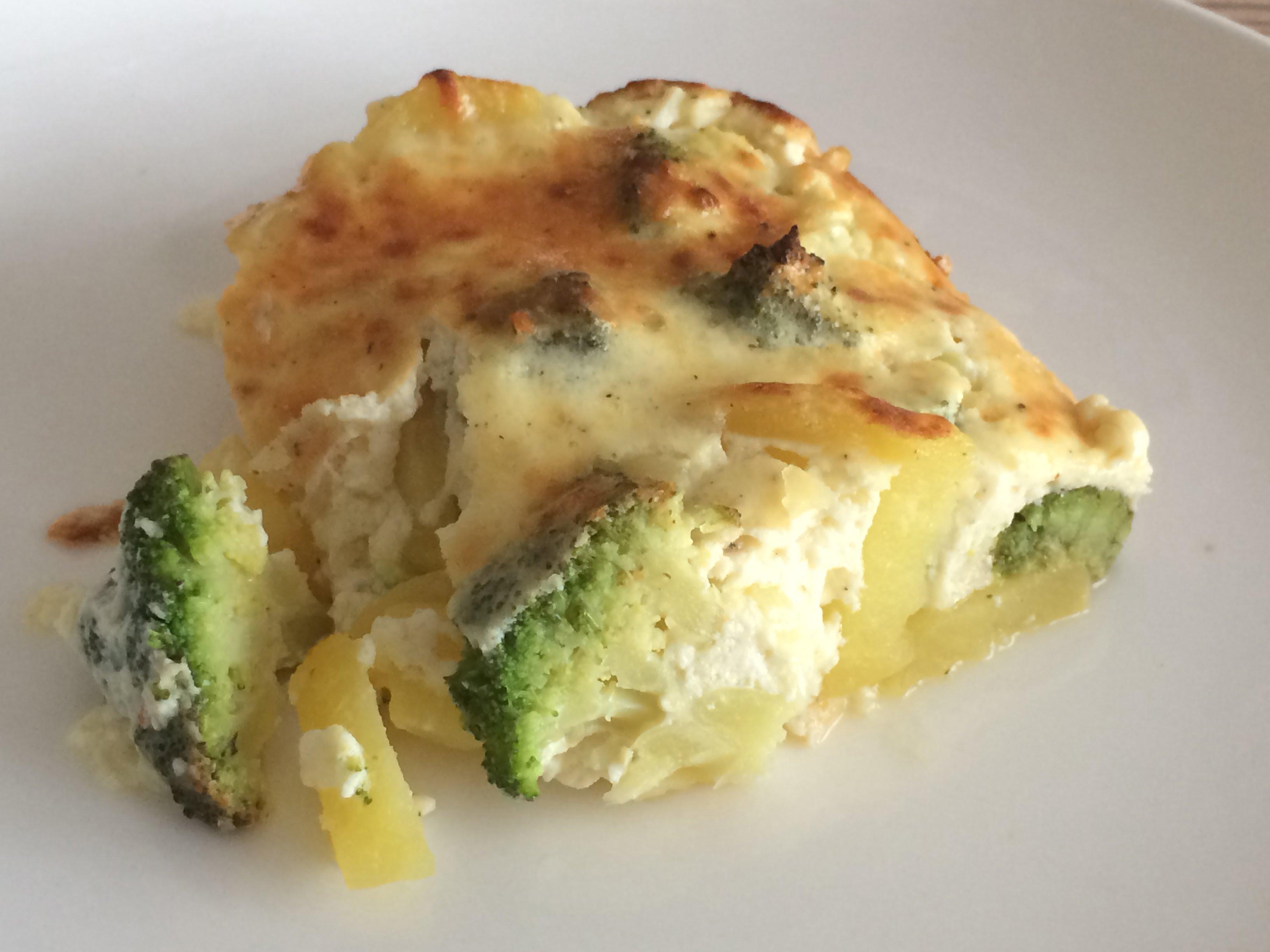 vegetarisches Brokkoli-Kartoffel-Gratin