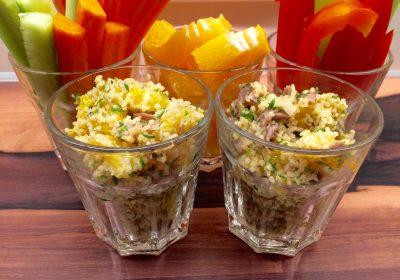 Couscous mit Schweinefleisch und Orangen