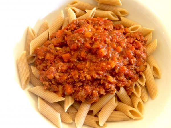 Penne mit Bolognese