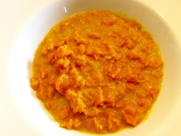 Möhreneintopf mit Curry und Kocosmilch
