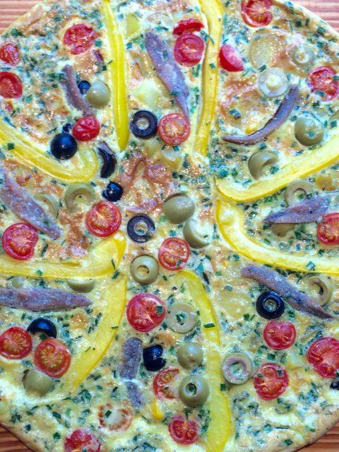 Pfannentortilla mit Kartoffeln und Gemüse