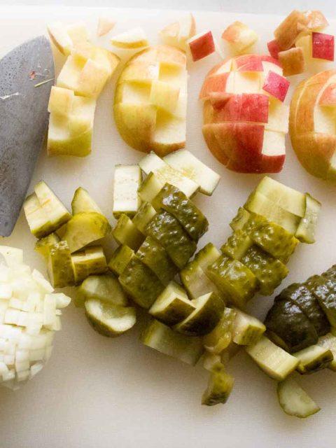 Gemüse für Heringstip